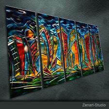 Original Metal Wall Art Abstract Shining Painting Indoor Outdoor Decor-Zenart