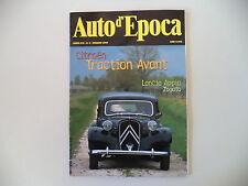 AUTO D'EPOCA 5/1999 LANCIA APPIA ZAGATO/CITROEN TRACTION AVANT/ANGELO RIZZO