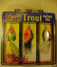 Mepps Aglia Dressed Trout Pocket Pac, 3 Lures
