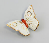 9941204 Porzellan Figur Schmetterling Ens Weiß Gold H3,5cm