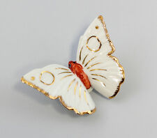 Porzellan Figur Schmetterling Ens Weiß Gold H3,5cm 9941204