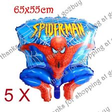 5 X Cartoon Foil Balloon Spider-man C Birthday Party Decoration Round 65CM*55CM