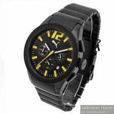 PUMA TIME Uhr Tire PU101961005 Herren Armbanduhr Chronograph schwarz gelb