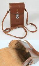 Art Deco Movie Camera Case Brown Leather