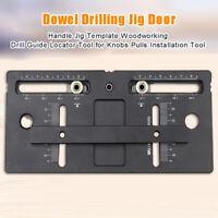 Dowel Drilling Jig Door Handle Jig Template Woodworking Drill Guide Locator Tool
