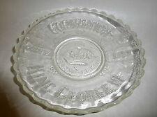 "Vintage 1937 Coronation King George VI 10"" Glass Souvenir Plate Raised Relief"