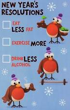 New Year's Resolutions Funny Happ New Year Card Crackers Range Greeting Cards