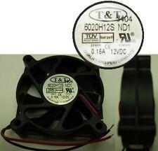 "2.36""*.79""inch/60mm*20mm T&T 6020H12S-ND1 12VDC/12V/9V Fan 2wire 6.5""tinned end"