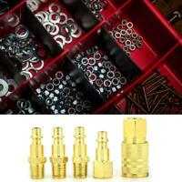 5Pcs NPT 1/4in Female/Male Thread Air Hose Connect Quick Connectors Fittings Set