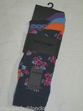 BNWT -  DUCHAMP LONDON Mens  Socks  3 Pairs Blue  Size 7 -11