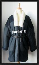 ISABEL MARANT DEMPSTER blue coat jacket manteau veste bleu