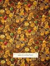 Pirate Treasure Chest Jewels Allover Cotton Fabric Benartex Buried Treasure Yard