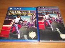 New RETRO CITY RAMPAGE DX PS4 Game & PSP Case manual #1142/3000