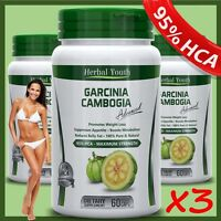 3 x GARCINIA CAMBOGIA 95% HCA PILL SUPER SLIM SLIMMING WEIGHT LOSS DIET CAPSULES