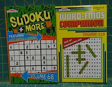 Two Kappa Puzzle Books, Sudoku And Word-Find Companion Volume 219