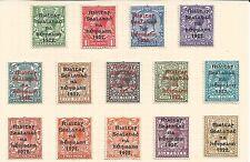 Ireland 1922 Blue black overprints ½d-1s Sc 23-35 with 26b mounted mint