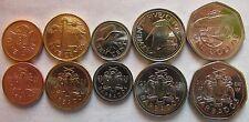 Barbados set of 5 coins 2008-2009 (1+5+10+25 Cents+1 dollar) UNC