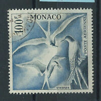 """Monaco PA N°66 Obl (FU) 1957 - Oiseaux de mer """"Sternes"""""""