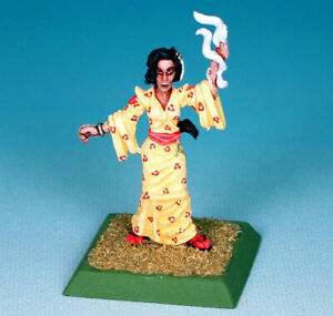 Painted ~ Kaede, Female Shugenja in Yellow Kimono, Legend of the Five Rings