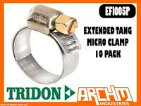 TRIDON EFI005P - MICRO HOSE CLAMP 10 PACK 9MM-17MM EXTENDED TANG EFI SERIES