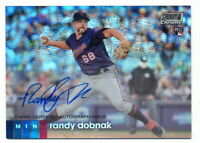 RANDY DOBNAK RC 2020 TOPPS STADIUM CLUB CHROME ROOKIE REFRACTOR AUTO TWINS