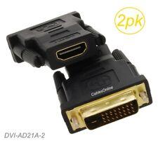 2-Pack HDMI Hembra A Dvi-D Dual-Link Macho Pantalla Vídeo Adaptador, DVI-AD21A-2