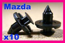 10 MAZDA front rear bumper fender fastener push type clip fascia panel plate