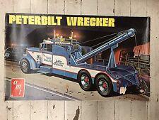 Vintage Peterbilt Wrecker AMT Model Kit W/ Box 1/25 Scale
