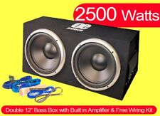 """2500W Preloaded dual 12"""" Subwoofer Enclosure With Amplifier Easy install Active"""