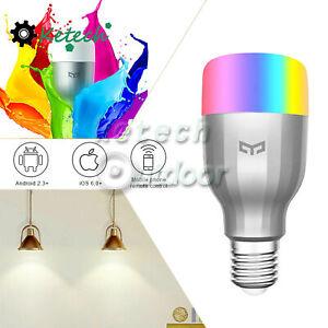 For E27 9W RGB Bulb WiFi Remote 16 Million Colors Yeelight LED Lamp L2KO