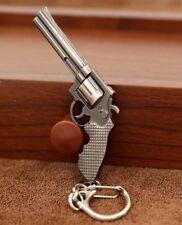 Silver PISTOLET COWBOY SMITH & WESSON Pistol keyring key chain ring revolver Keychain