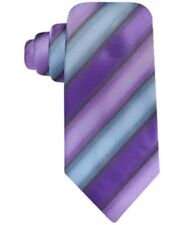 John Ashford Bryant Stripe Neck Tie, Washable, Purple Multi