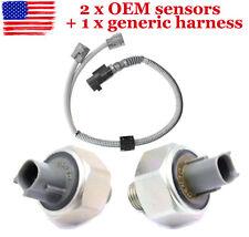 2 DENSO Knock Sensors & harness 89615-12090 for TOYOTA LEXUS Avalon Camry ES300