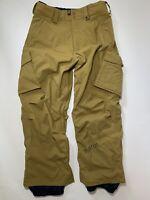 Burton Mens Small Covert Snowboard Ski Cargo Vented Zip Pockets Pants Brown