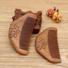 1pcs Hair Brush Peach Wood Combs Static Natural Massage Hairbrush Health Care
