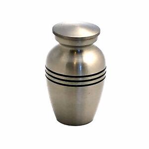Well Lived® Small Brass Keepsake Mat Silver Set of 4 Cremation Urn