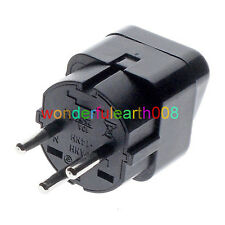 5 x ISRAEL Travel Plug Adapter Universal Outlet Accept World Plug Black