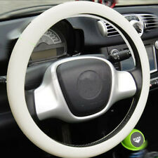 White Soft Silicone Car SUV Steering Wheel Cover Shell Skidproof Odorless Useful
