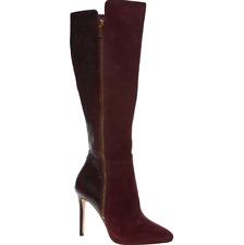 BNIB Michael Kors Clara Knee Suede Reptile Boots Plum  EU 42.5 UK 9 RRP £330