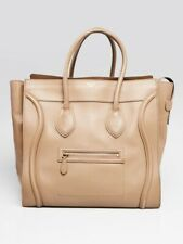 Celine Taupe Leather Large Luggage Tote Bag