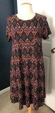 LulaRoe Carly Dress, Purple Multi-Colored w/Diamonds, Medium NWT