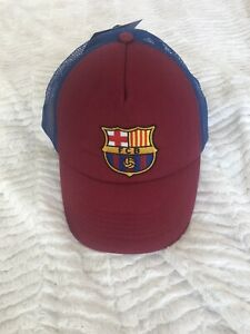 FC Barcelona Baseball Cap Hat One Size Fits All Adjustable New Trucker Hat