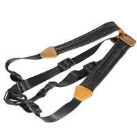 Adjustable Leather Tenor Alto Soprano Saxophone Sax Chest Double Shoulder U9B3