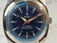Vintage Nino Mens Analog Dial Mechanical Handwinding Movement Wrist Watch VG210