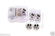 Disney MICKEY MOUSE Cosmetic Makeup Cream Liquid Bottle Case Set travel kit girl