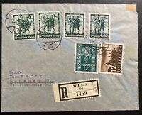 1938 Vienna Germany Mixed Franking Registered Cover To Munich
