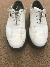 MENS/JUNIORS FOOTJOY DRYJOYS TOUR 53635 FAUX CROC PRINT WHITE GOLF SHOES SIZE 7M
