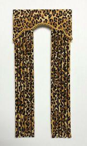 Leopard Dollhouse Curtains  -1:12 scale