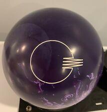 Rare Original Purple Quantum Brunswick Bowling Ball 14lbs Plugged Hard to Find!!