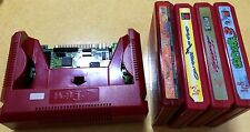 IGS PGM BOARD w/ 4 PGM CARTRIDGES USED GOOD WORKING.